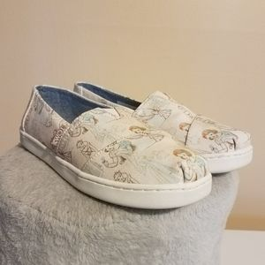 TOMS DISNEY X PRINCESS CHARACTERS SHOES GIRL'S 3Y